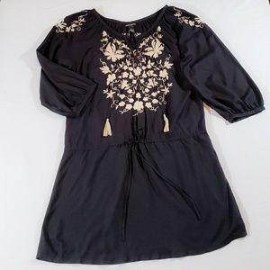 NWOT Lucky Brand Boho Embroidered Tunic Dress.